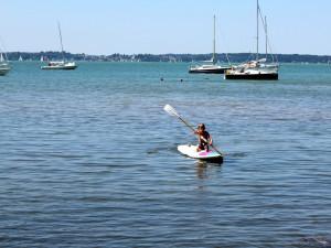 Baden, segeln, paddeln