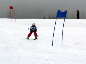 Skirennen für die Kleinsten